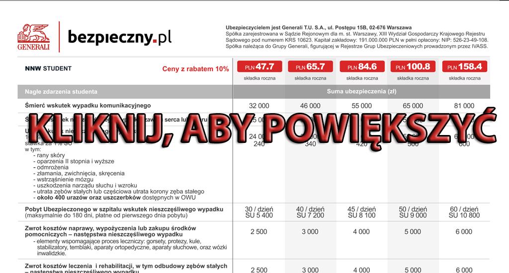 Kod Pośrednika Bezpieczny.pl 05345 - NNW i OC Studenta